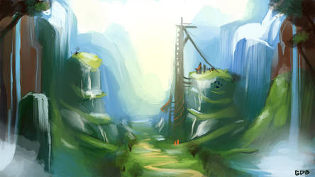 background practice by GDBee
