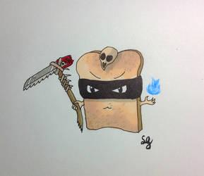 Inktober - slice (of bread) by Sirithcam