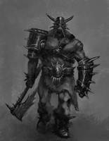 Barbarian Gladiator Dude by giantwood