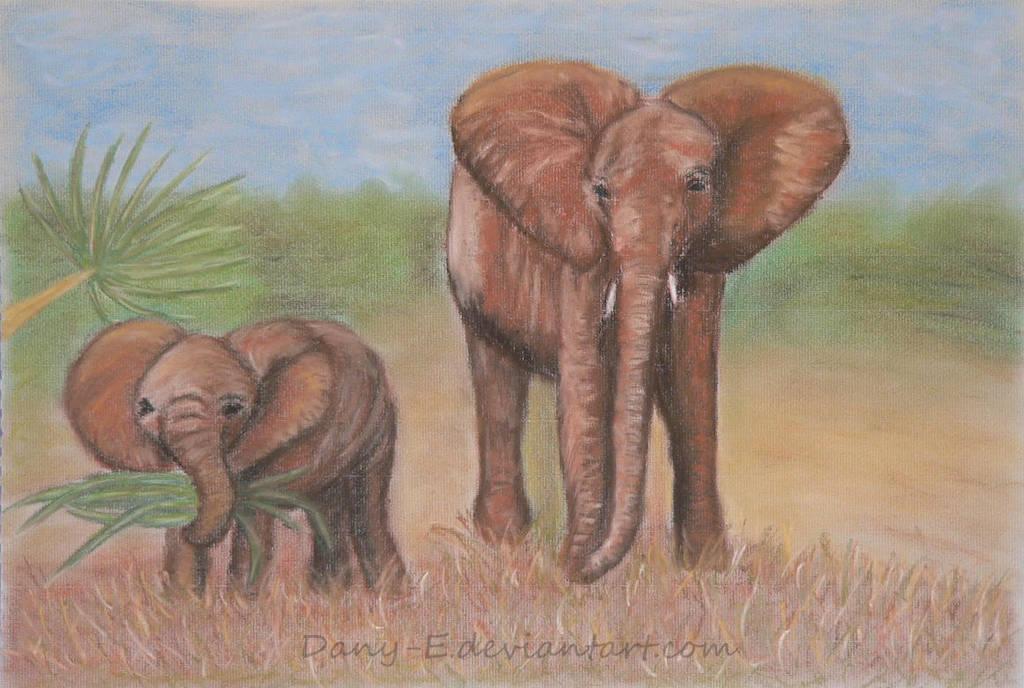 Elephants (b) by Dany-E