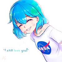 Earth-chan~! by acrylic-stroke