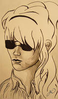 Girl with sunglasses by LittleBanhbao