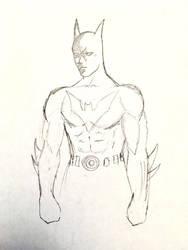 Batman Beyond Sketch  by audiobrainiac