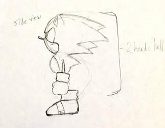 Sonic CD Character Model Study by audiobrainiac