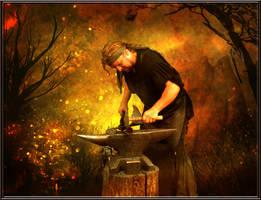 Hephaestus, God of Blacksmiths by violscraper
