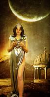 Achelois, the Moon Goddess by violscraper
