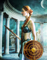 Phoebe, Titan of the Moon by violscraper