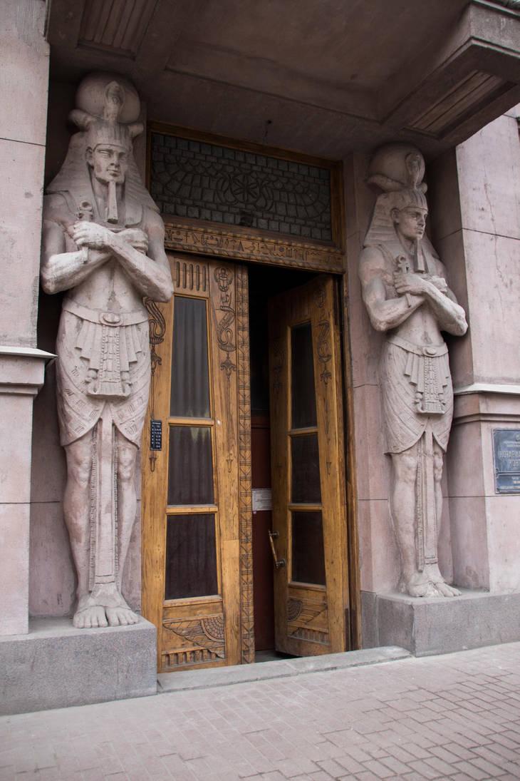 Egyptian doorway 8232 by estellium