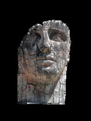 Surreal face sculpture 7749 by estellium