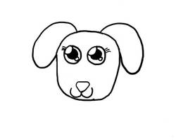 Uncolored Doggy. by PrincessSeddie