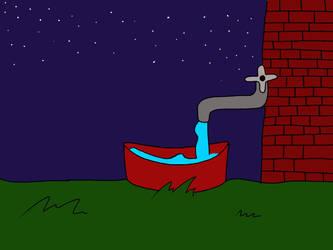 Water Bowl At Night by PrincessSeddie