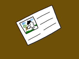 Doggy PostCard Blank by PrincessSeddie