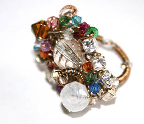 Wire Wrapped Large Bead Ring by FranyaBlue