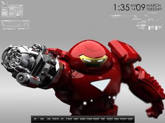 Hulkbuster Iron Man Desktop by wallybescotty