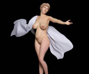 Woman posing by FaceGenerator