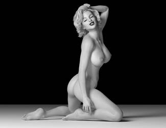Marilyn Black and White by FaceGenerator