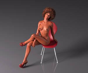 Nyasia Seated by FaceGenerator