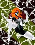 spiderwoman in the web by eddielynn