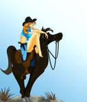 blue cowgirl by eddielynn