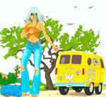 sweet hitchhiker by eddielynn