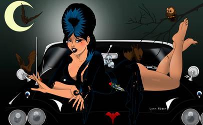 Elvira's hot ride by eddielynn