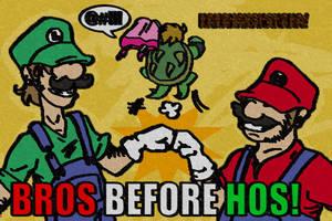 SMB: Bros before Hos by Smurfwizard