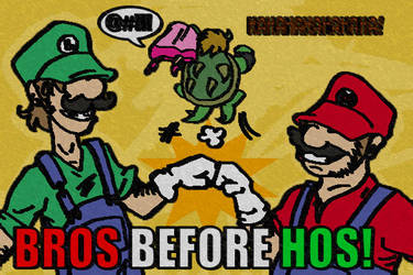 SMB: Bros before Hos by Smurfwizard