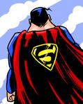 Superman Sketch Card by Stone-Pi-Comics