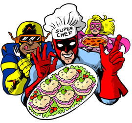 Super Chef and Friends by Stone-Pi-Comics