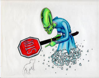 Irritated Alien by Churchimus