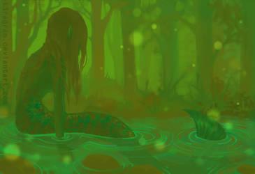 Forest Mermaid by T3ragram