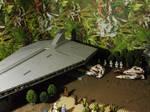 TX-130 moves inside Acclamator Assault Ship LEGO by William-Blackbird