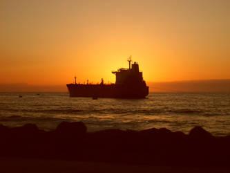 -Sunset-  Ship by The-Big-Pumpkin-Inc