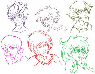 Homestuck faces by UzumakiAya