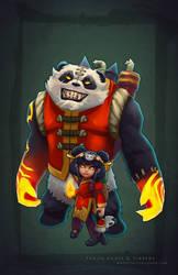 Panda Annie + Tibbers by MissMaddyTaylor