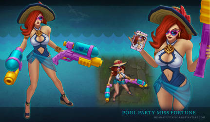 Pool Party Miss Fortune by MissMaddyTaylor