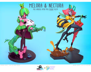 Melora + Nectura Figurine Pre-orders open Friday! by MissMaddyTaylor