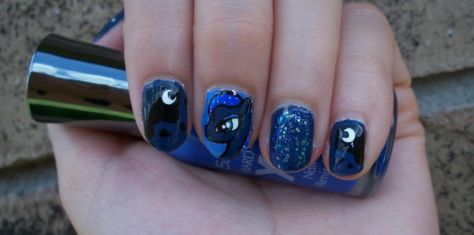 My Little Pony Inspired Nail Art Design Ft Princes By Itsbejarano