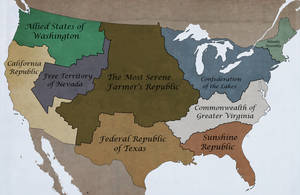 Nations of the Former United States Map by FinerSkydiver