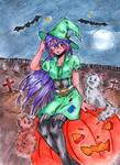 Pumpkin witch by Kuraiko-kyun