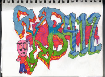 KB412 Graffiti sketch by kb412