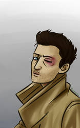 Castiel- black eye and fashion by Arei-chan