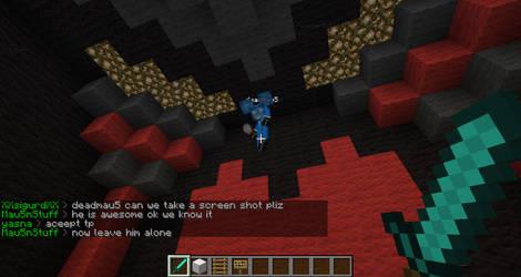 Deadmau5 in minecraft by ChesterLeafeon