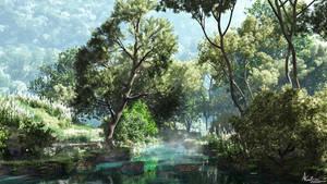 Turqoise creek by AronKamo