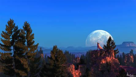 Wolf Moon by AronKamo