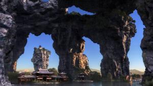 Buddhas retreat by AronKamo