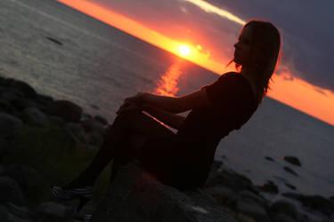 The setting sun by rkooli