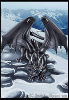 Dragon in the Snow by DrakainaQueen