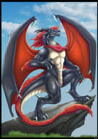 Anthro dragon Commission by DrakainaQueen