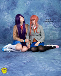 Yuri and Monika 03 by ZorbaZombie